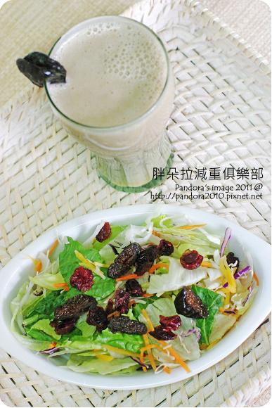 2011.08.23-蜜棗香蕉燕麥飲、七彩和風沙拉