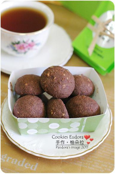 CookiesEudora。巧克力杏仁球