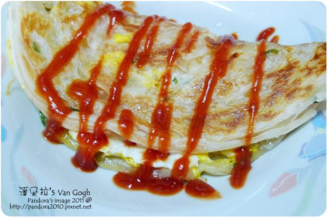 2011.09.20-(光頭呂)黃金蔥抓餅+蛋