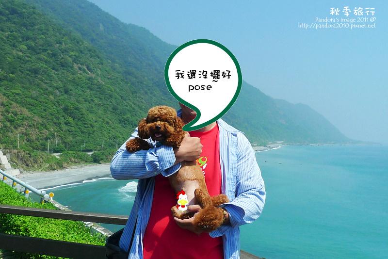 豐濱鄉沿海。狗子和旅人