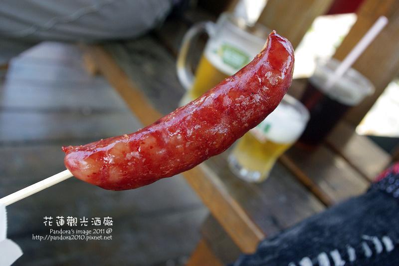 花蓮觀光酒廠。紅麴香腸