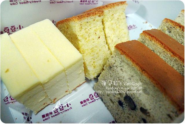 2011.10.05-(小豆豆現烤蛋糕)胚芽&紅豆&輕乳酪蛋糕