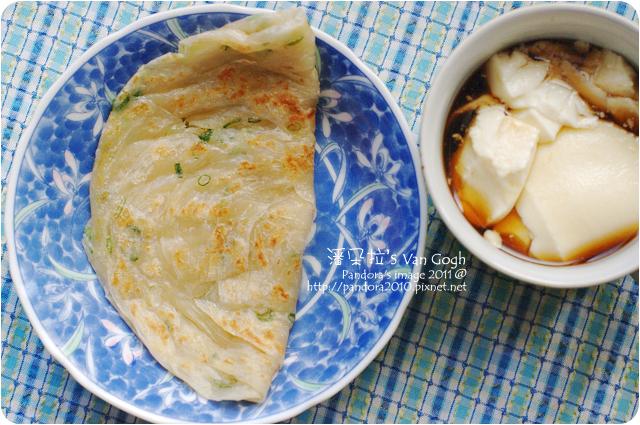 2011.12.09-(光頭呂)黃金蔥抓餅、薑糖水豆花