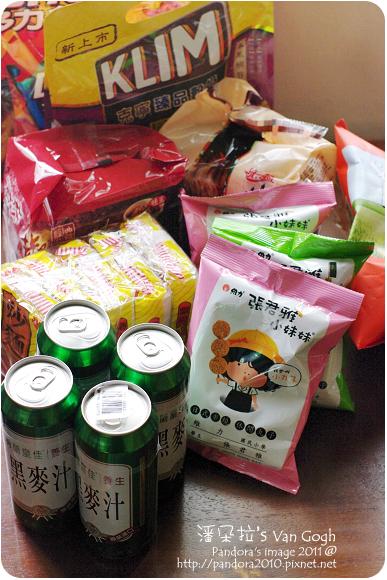 2011.12.14-泡麵、零食、榖奶、黑麥汁