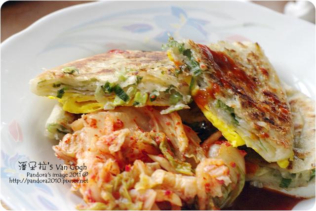 2011.12.20-(阿福伯)北方蔥餅+蛋、泡菜