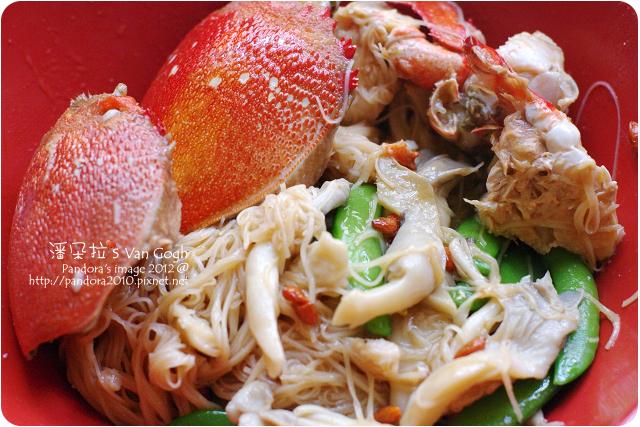 2012.01.17-螃蟹+麻油麵線