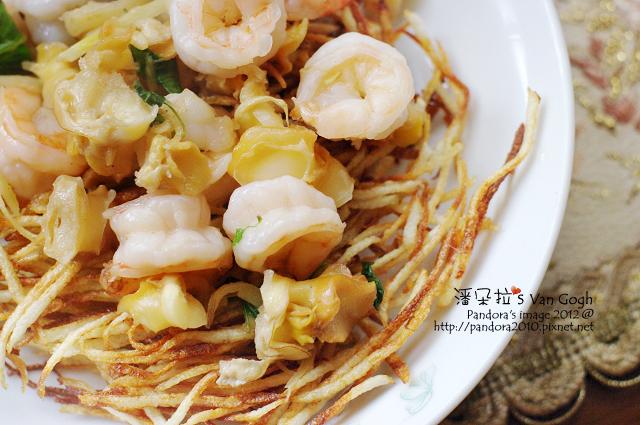 雪螺蝦球燴薯籤