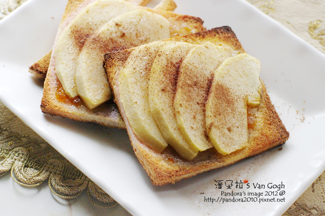 香桔蘋果吐司