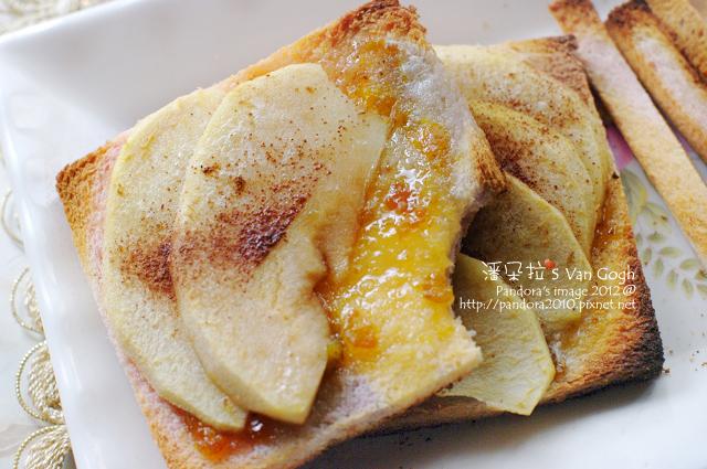 金桔蘋果吐司