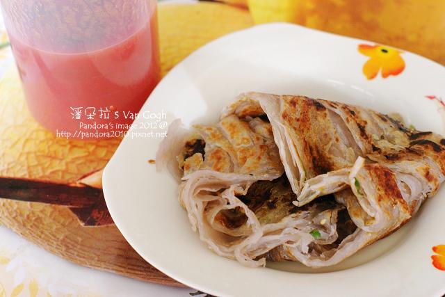 2012.02.20-(光頭呂)芋香抓餅、梅子蕃茄汁