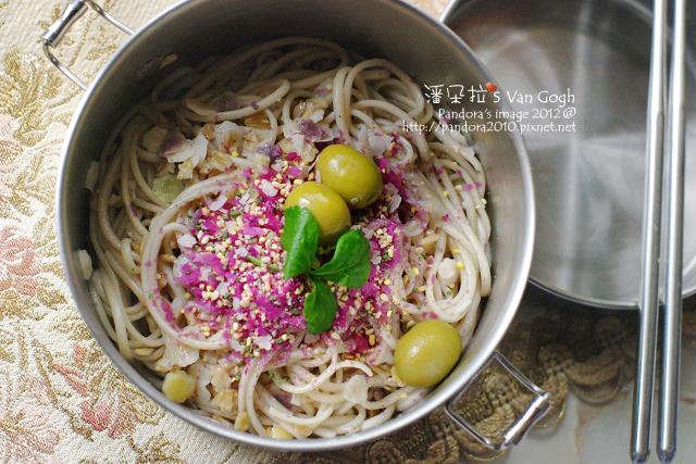 2012.02.23-香鬆橄欖油拌十榖麵