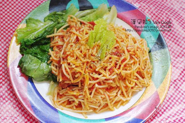 2012.03.02-(pasta99)蕃茄酸豆鮪魚義大利麵、萵苣