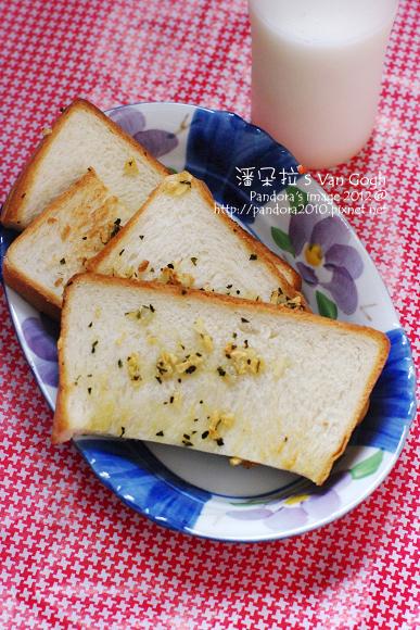 2012.03.02-羅勒香蒜吐司、(光泉)乳香世家低脂鮮乳200mL