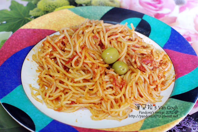 2012.03.09-(pasta99)義式鄉村肉醬麵+(Crespo)瑰寶有籽綠橄欖