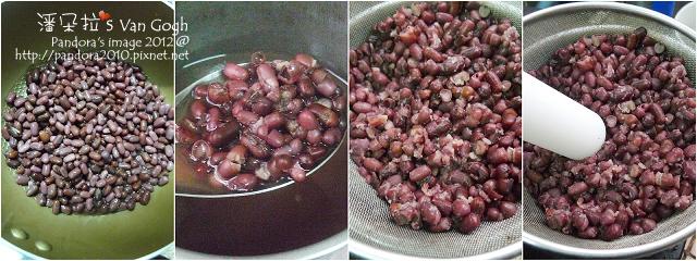 黑糖紅豆羊羹。作法