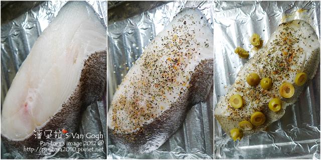 香料烤鱈魚。作法