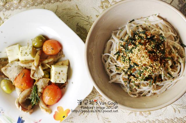 2012.03.29-義式乳酪菇沙拉、香鬆味噌蕎麥麵