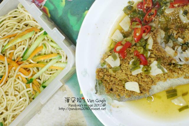 2012.03.30-涼麵、豆酥鱈魚