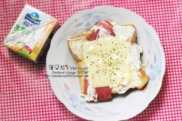 2012.04.05-起司培根厚片、(福樂)水果牛乳