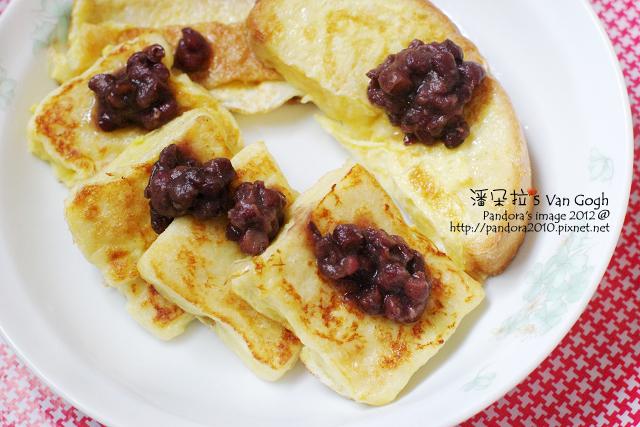 豆漿嫩吐司+蜜紅豆