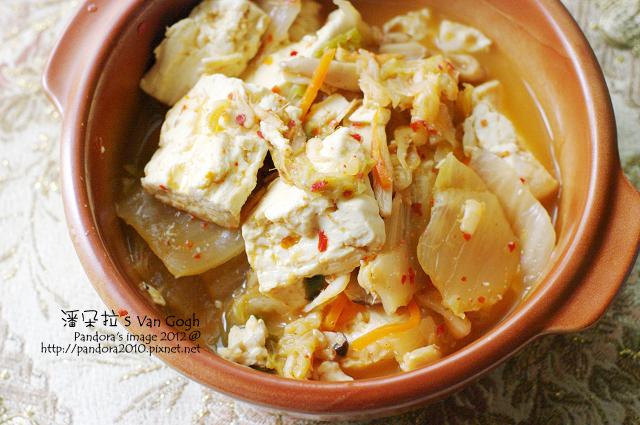 櫻花蝦泡菜豆腐煲
