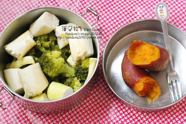 2012.04.22-青花椰菜、筊白筍、地瓜