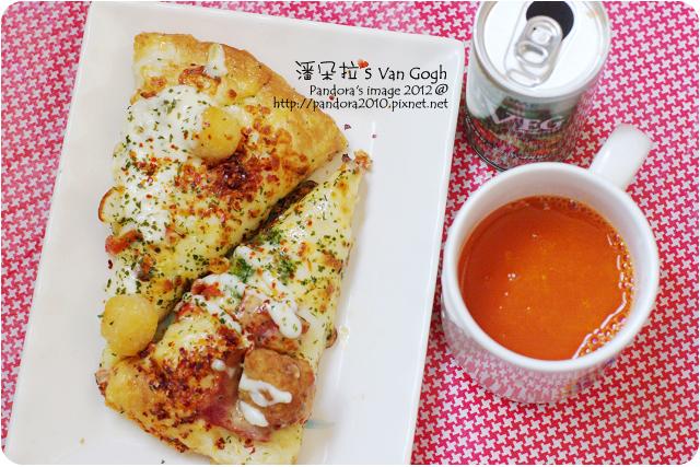2012.05.06-(PizzaHut)黃金繽紛雙饗pizza、(可果美)ALLVEG都是蔬菜汁