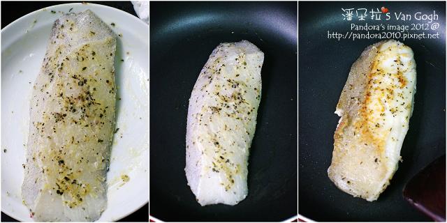 羅勒橄欖油香鱈魚排。作法