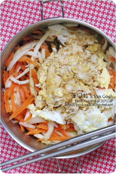 2012.05.19-筊白筍絲+胡蘿蔔絲+蛋花湯+薄鹽醬油