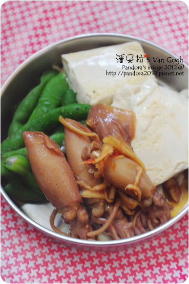 2012.06.10-(中華)有機豆腐、水煮四季豆、薑絲小卷