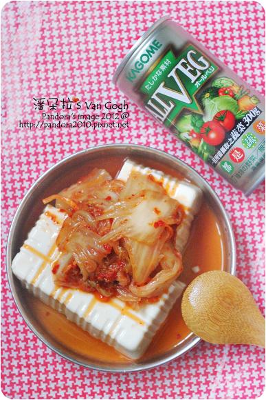 2012.06.20-(義美)燕麥豆腐+韓式泡菜、(可果美)ALLVEG都是蔬菜汁