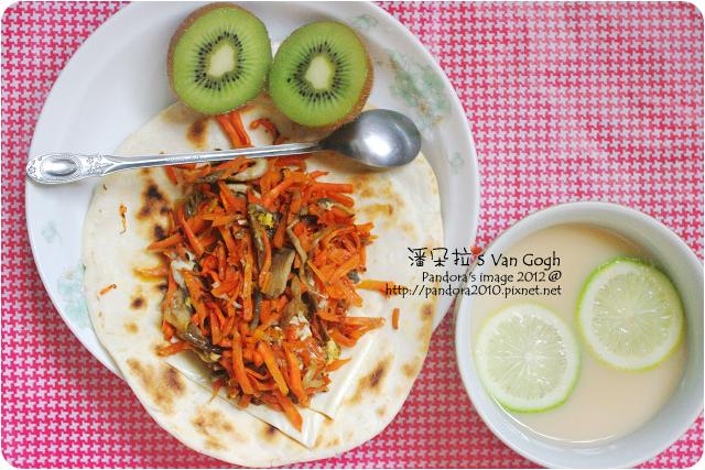 2012.06.24-檸檬多多、胡蘿蔔鮮菇起司蛋捲餅、奇異果