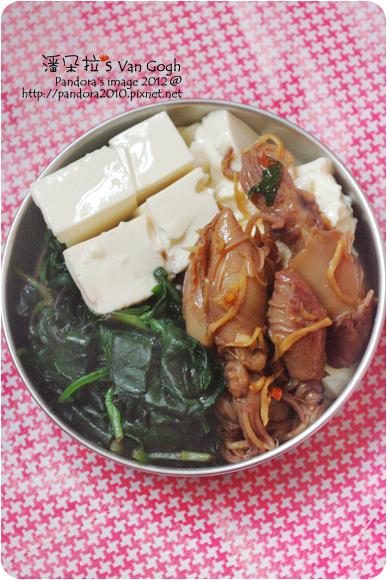 2012.06.28-薑絲小卷、(中華)有機豆腐、炒紅鳳菜