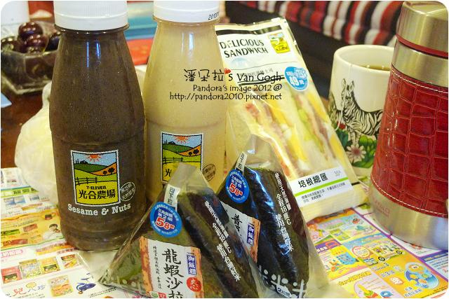 2012.07.05-(7-11)堅果飲、御飯糰、三明治