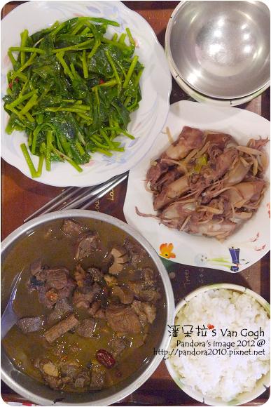 2012.07.07-炒皇宮菜、杜仲麻油腰花、薑絲小卷