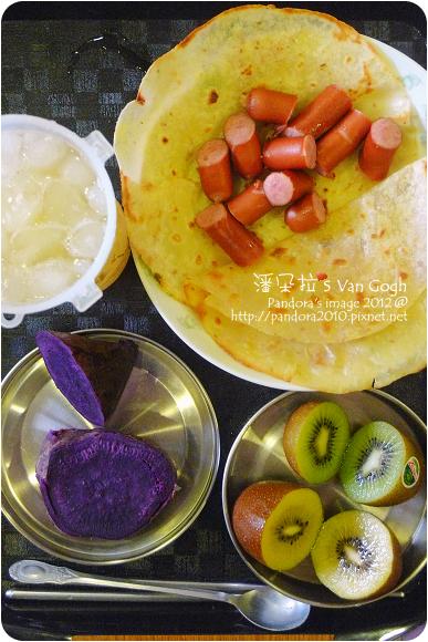 2012.07.23-(統一博客)Q肉丁德國香腸、餅皮、綠奇異果、SunGold奇異果、紫心地瓜、蜂蜜檸檬汁
