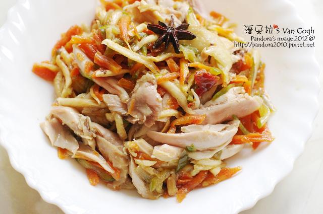 涼拌彩蔬香雞絲