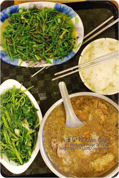 2012.07.28-炒山蕨、炒空心菜、藥燉排骨