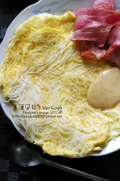 培根麵線蛋餅