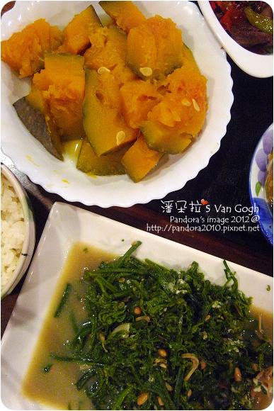 2012.08.17-炒山蕨菜、蒸南瓜
