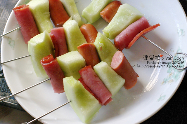 香瓜火腿串