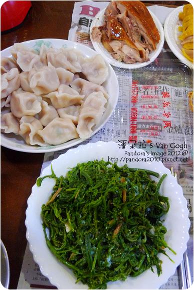 2012.09.08-鮮肉水餃、炒山蕨菜、烤雞