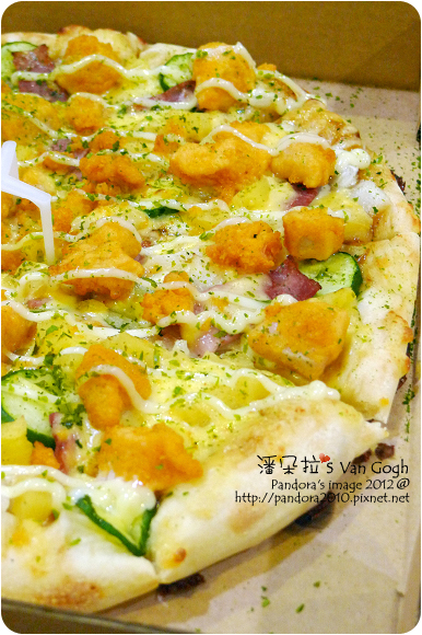 2012.09.08-(PizzaHut)輕Q餅皮pizza-黃金和風雞