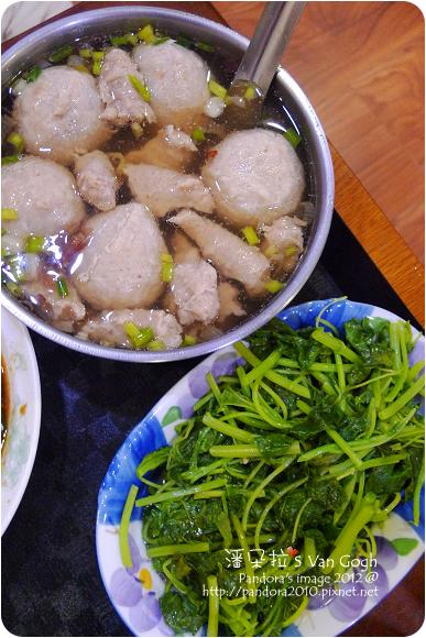 2012.09.20-肉羹魚丸湯、炒莧菜