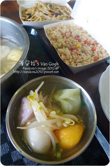 2012.09.29-水晶餃、三色炒飯、炒麵