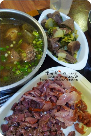 2012.11.03-清燉牛肉湯、白菜豬肝、醃雞胗、醃雞腿肉