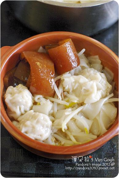 2012.11.19-滷豬皮+餛飩湯粄條