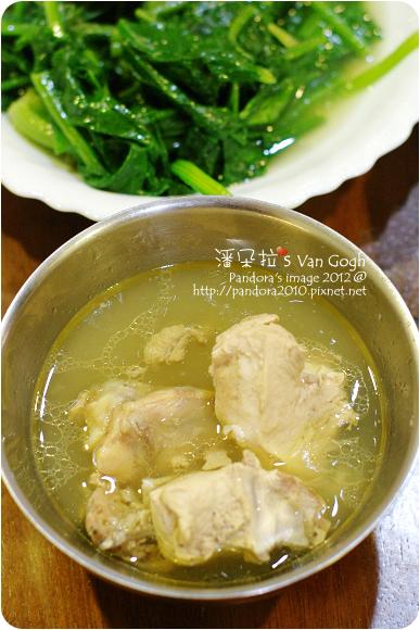 2012.11.25-蒜頭雞湯、炒菠菜