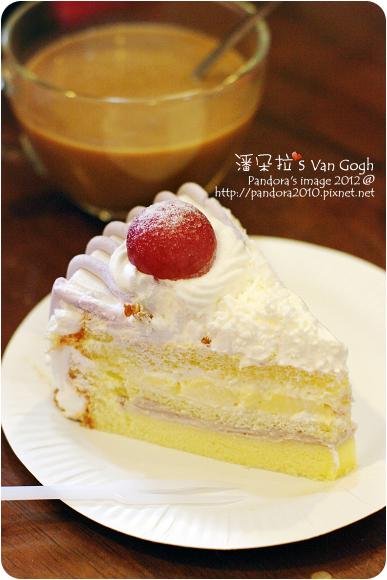 2012.11.25-胖不太好-拿鐵、(幾分甜)芋頭布丁蛋糕