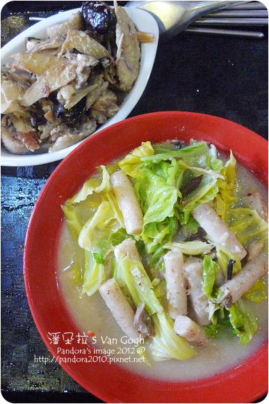 2012.11.26-蒜頭雞湯煮年糕、高麗菜